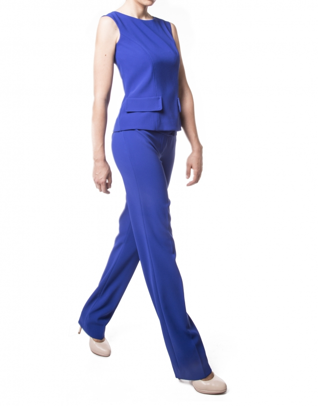 Klein blue straight pants