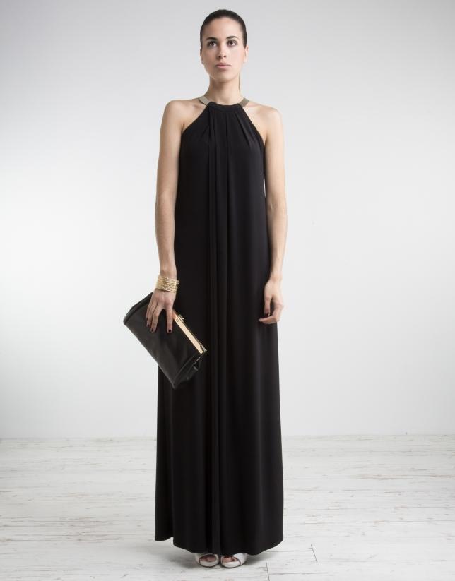 Black dress with halter top