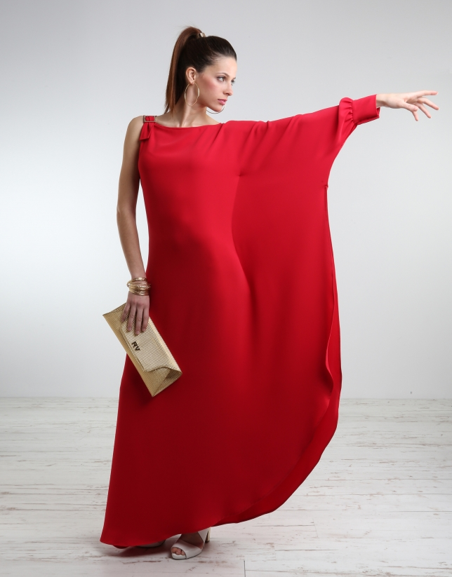 Vestido largo adolescente rojo