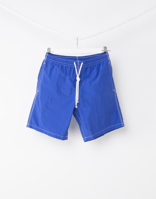 Men's blue bathing suit