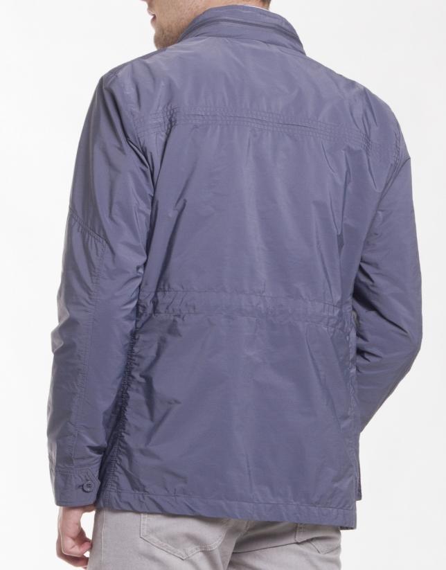 Sapphire blue piqué jacket