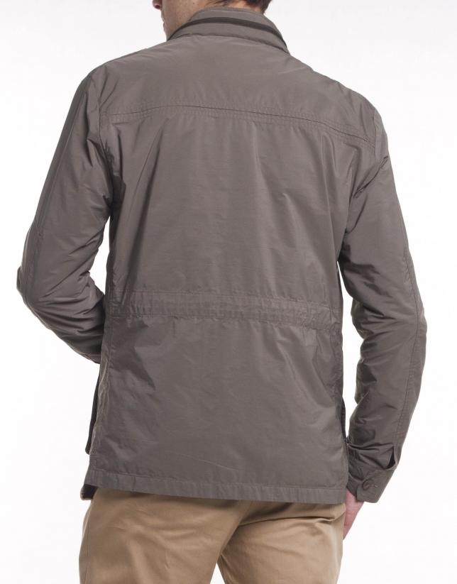 Khaki light weight piqué jacket
