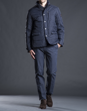 Blue, three pocket, tracksuit jacket