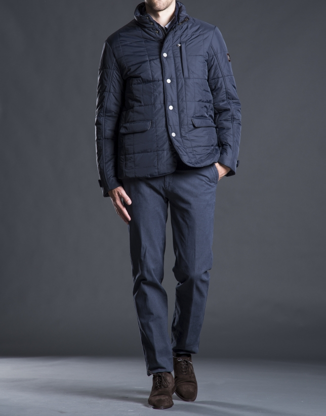 Blue, three pocket, tracksuit jacket