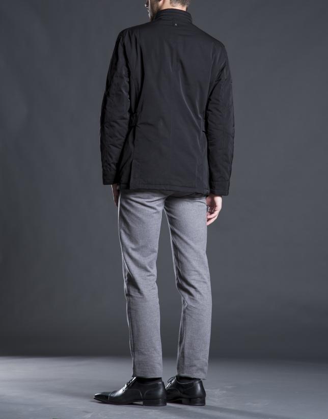 Blouson sport quatre poches noir