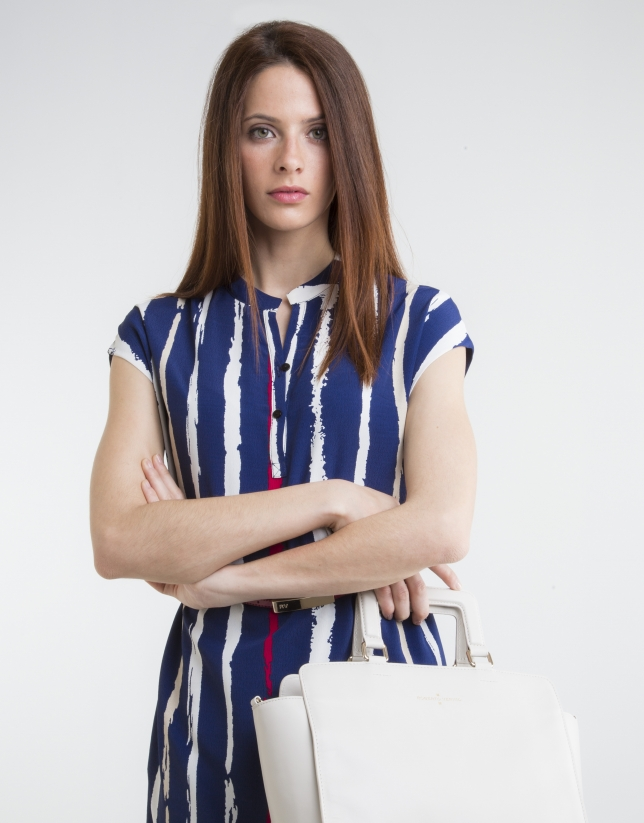 Robe-chemise bleue à  rayures