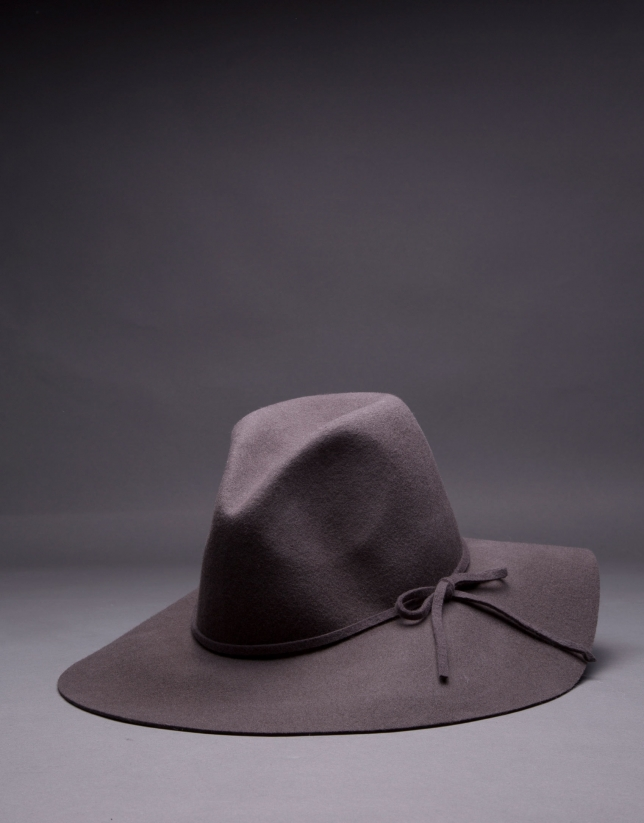 Gray felt hat