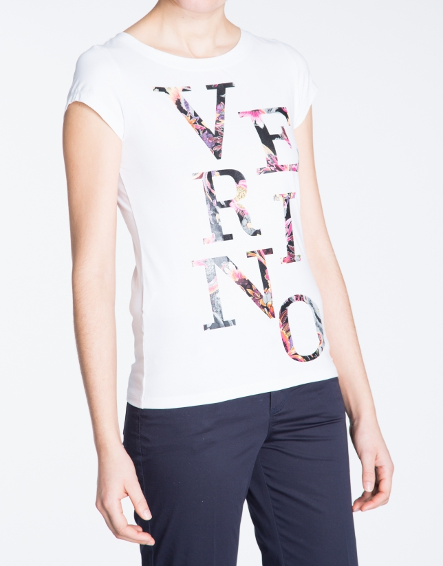 White sleeveless VERINO top