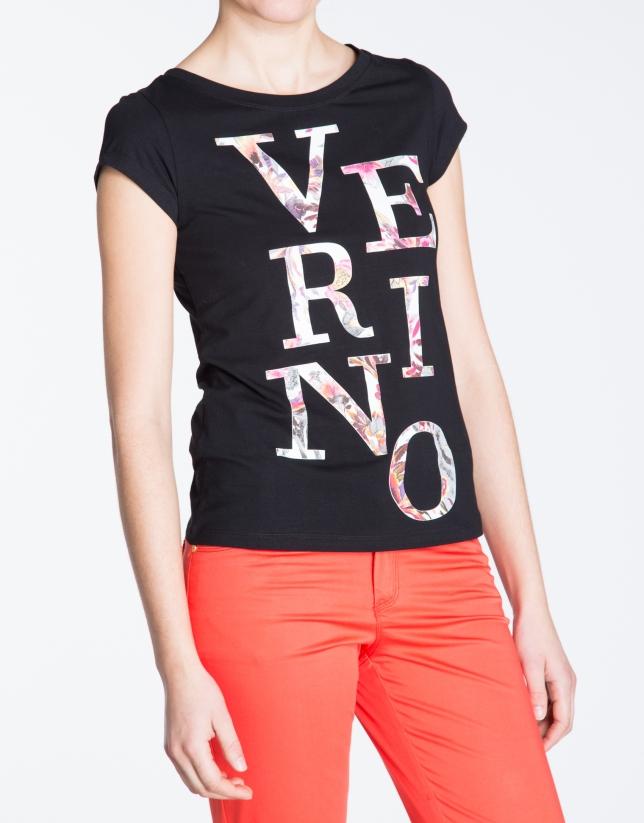 Camiseta negra  sin mangas VERINO.