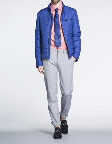 Blouson bleu matelassé horizontal