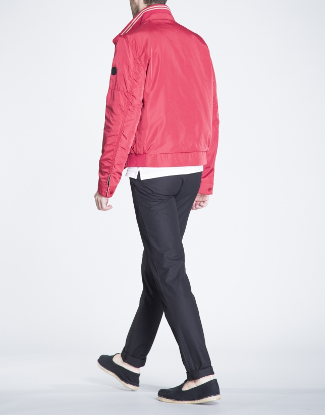Reversible beige track jacket