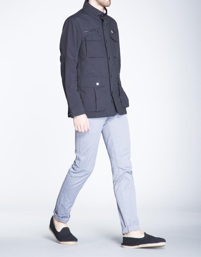 Blouson bleu marine, quatre poches