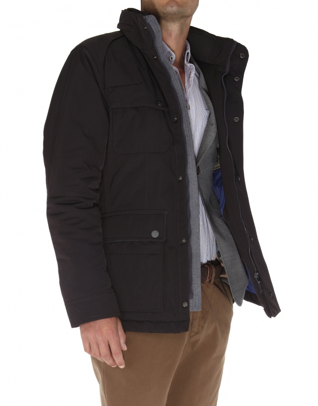 Sport jacket with four pockets