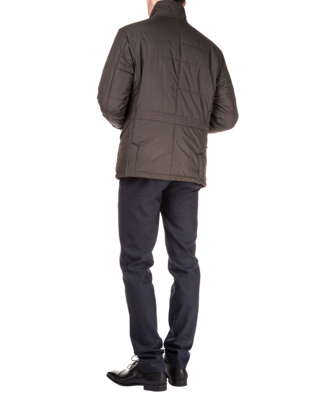 Microprint sport jacket