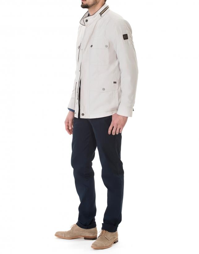 Veste couleur pierre à quatre poches