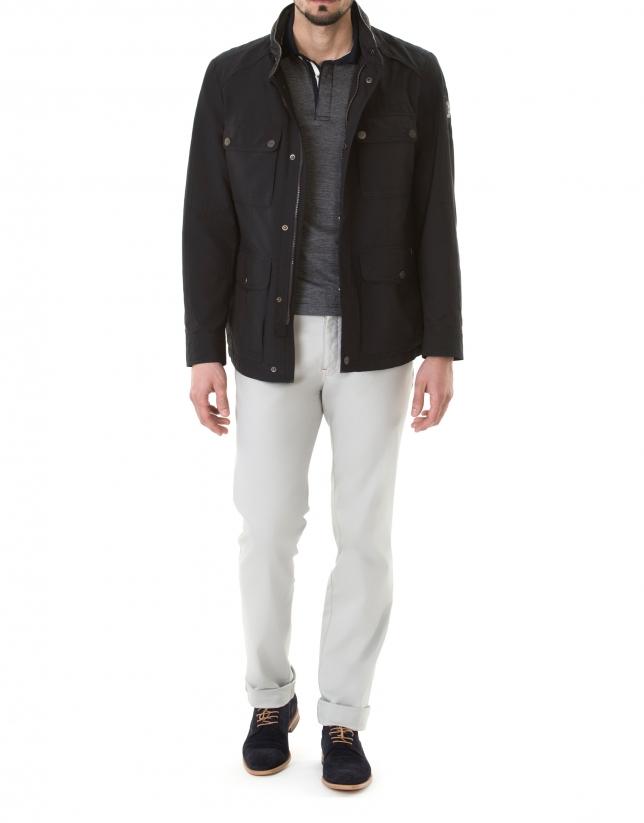 Veste bleu marine à quatre poches
