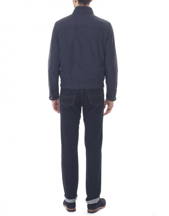 Reversible navy blue sport jacket