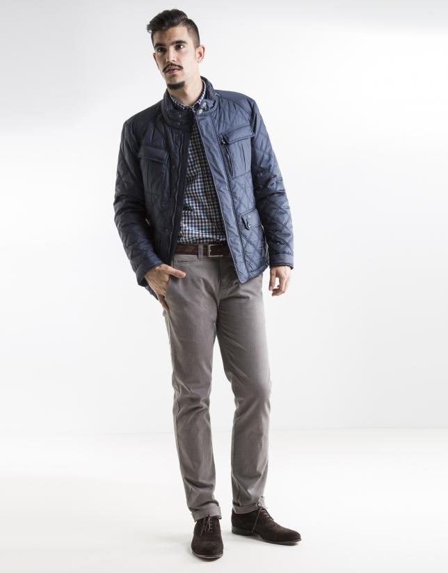 Blouson bleu marine à quatre poches