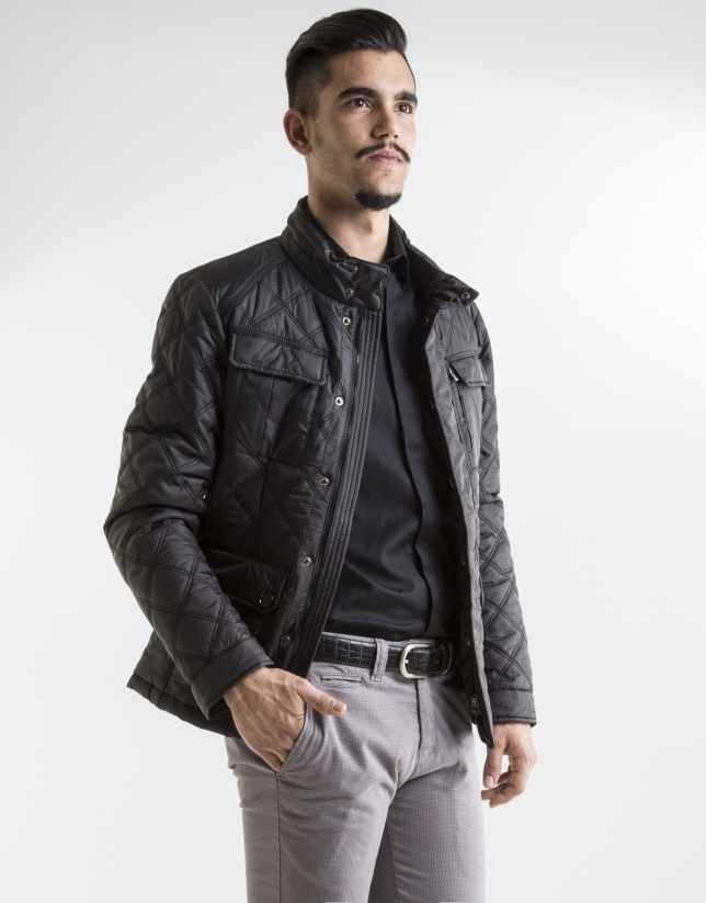 Black tracksuit jacket with four pockets