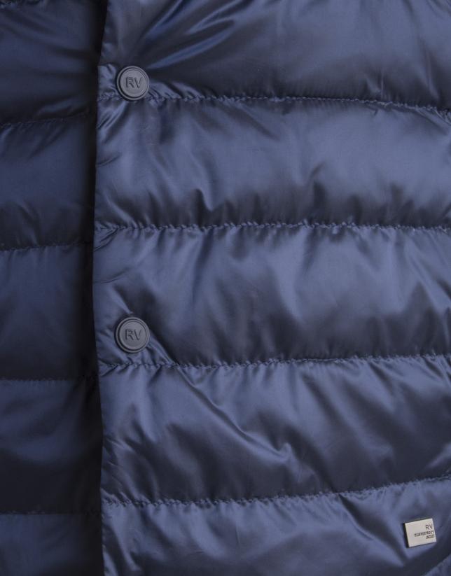 Blouson matelassé bleu roi
