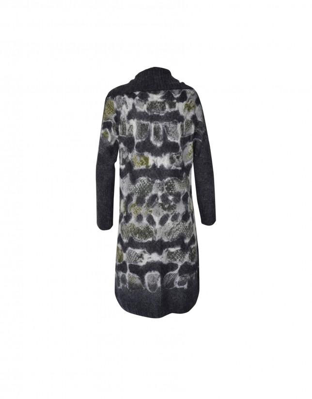 Long mohair blend jacket