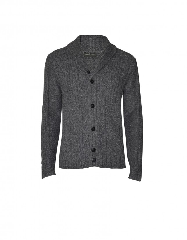 Mix charcoal grey  cardigan