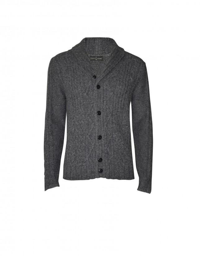 Mix charcoal grey  cardigan