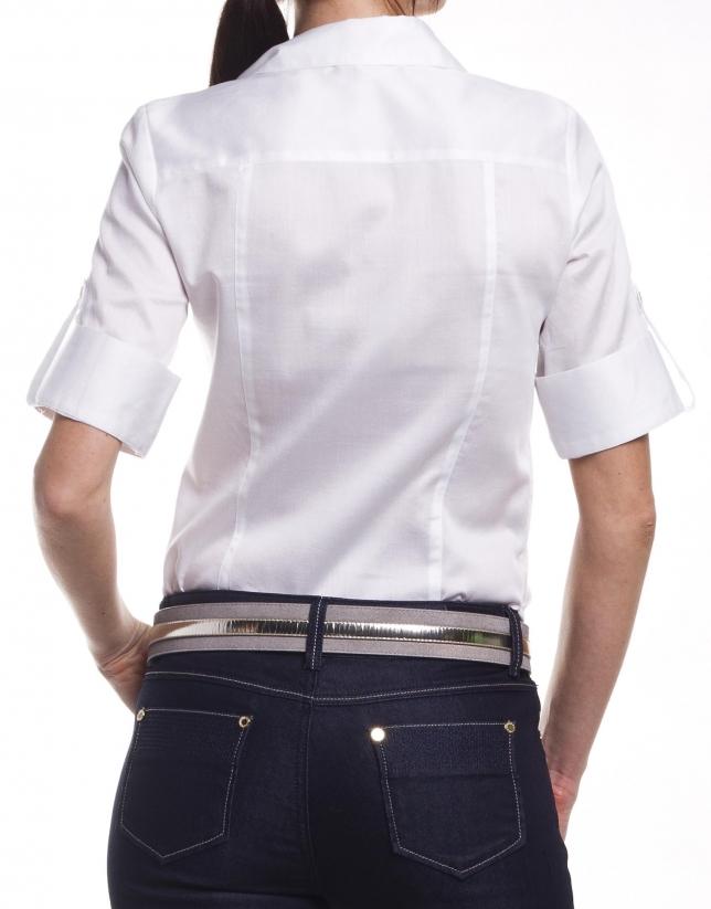 Camisa algodón manga corta