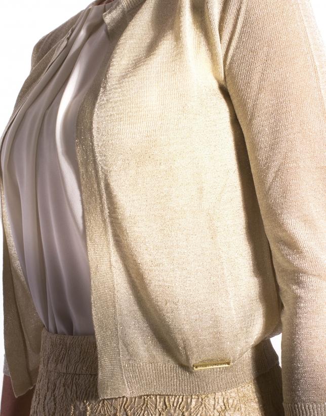 Fine knit gold jacket