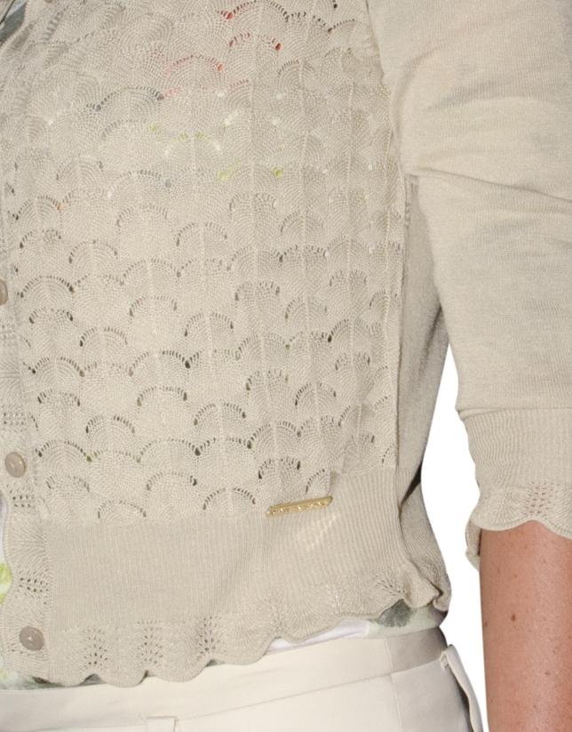 Viscose openwork sweater