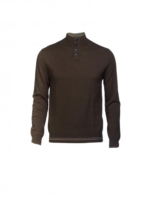 Jersey  lana y caschmere marrón