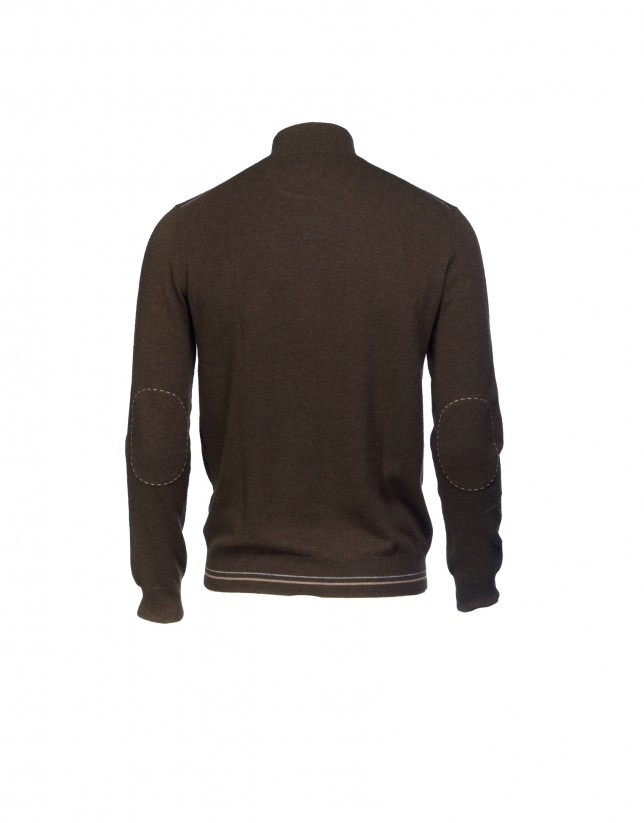 Brown wool/cashmere pullover