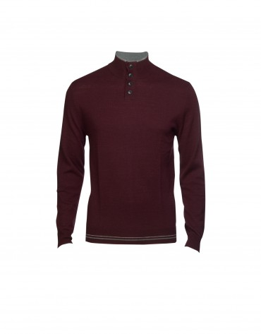 Jersey  lana y cashmere berenjena