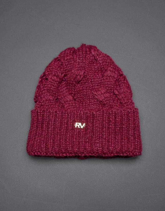 Burgundy knit cap
