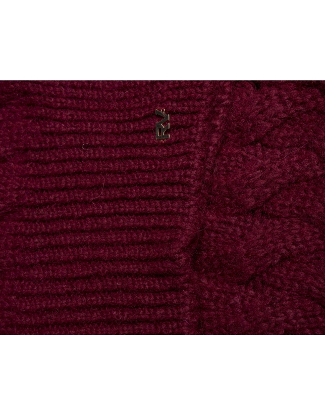 Burgundy knit cap