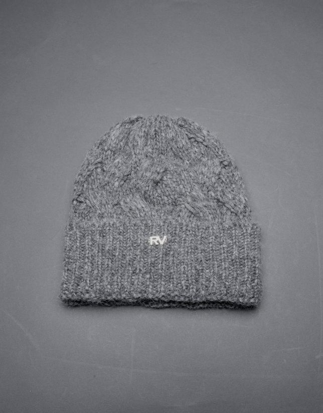 Gray knit cap
