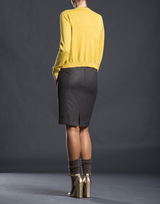 Mustard knit jacket