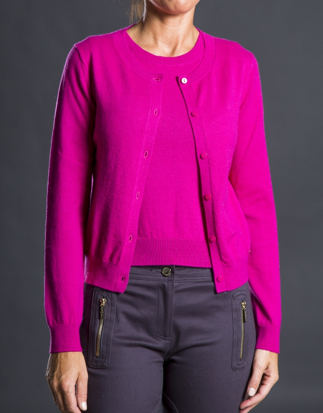 Coral knit jacket