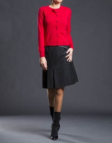 Gilet rouge maille fine