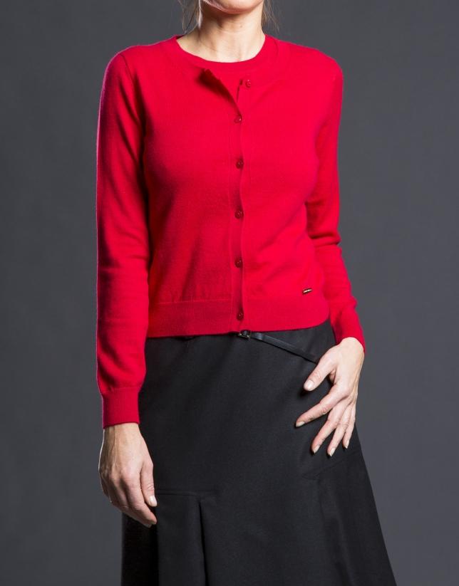 diseño unico mayor descuento material seleccionado Chaqueta punto rojo fino - Roberto Verino