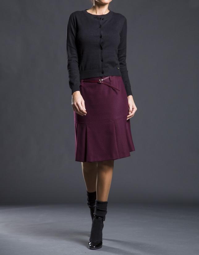 Gilet tricot noir