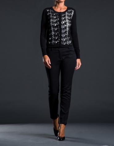 Gilet crochet noir