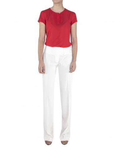 Camisa roja manga corta
