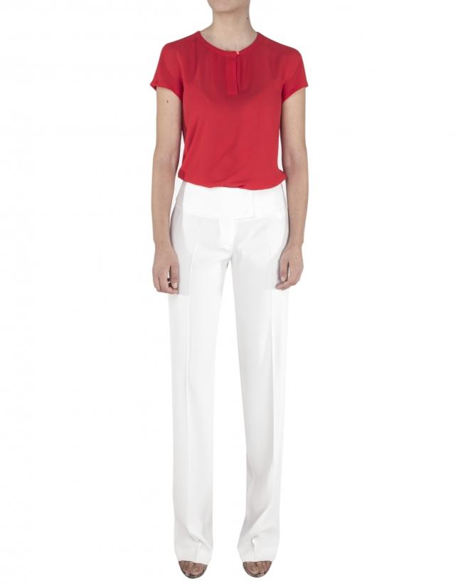 Chemise rouge à manches courtes