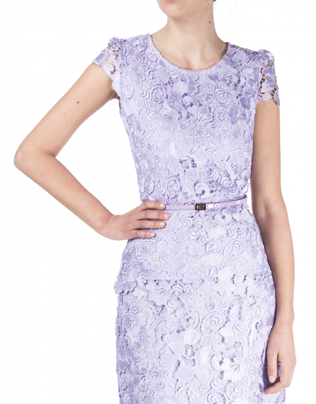 Lavender lace top
