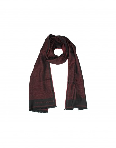 Dark red scarf