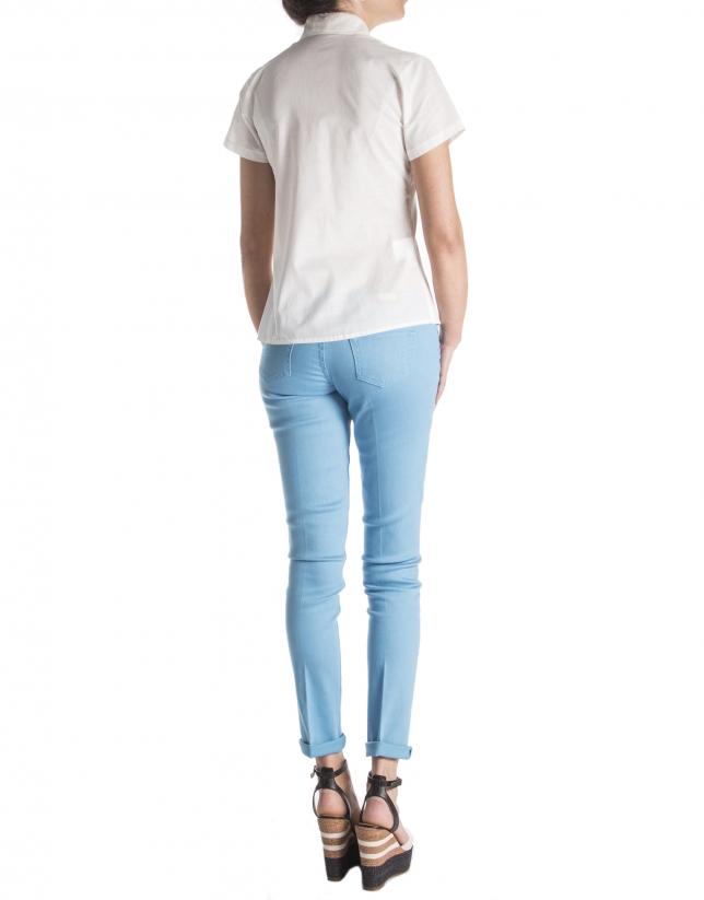 Camisa encaje manga corta