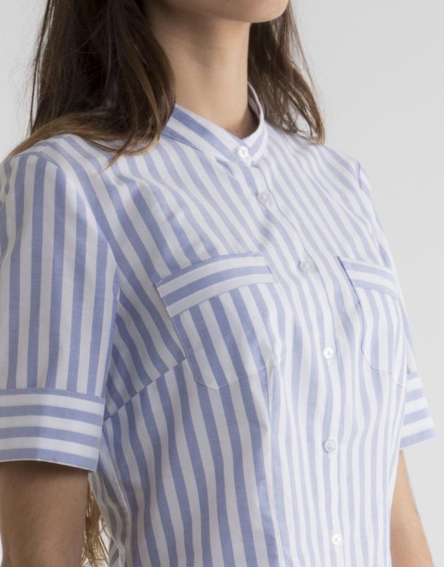 Striped short sleeved shirt
