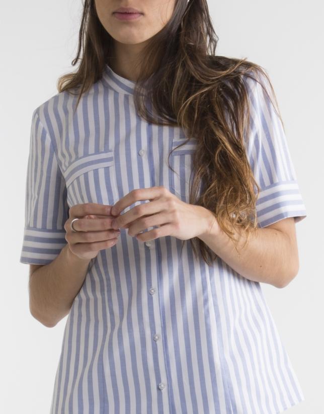 Camisa rayas manga corta