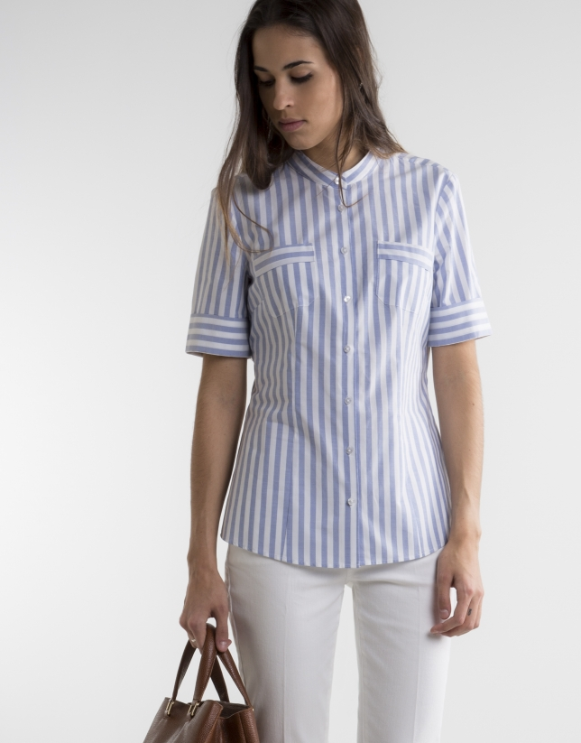 Striped short sleeved shirt